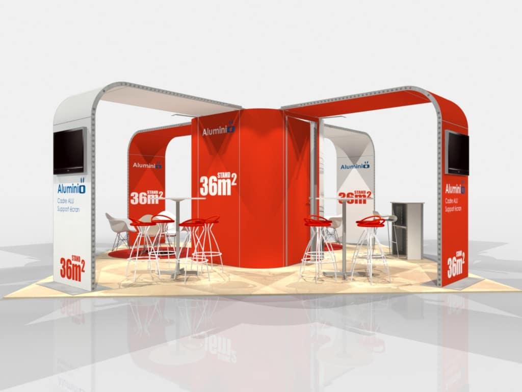 Stand modulable en aluminium pour votre prochain salon for Agencement de stand