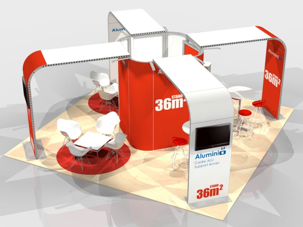 Stand modulable en aluminium pour votre prochain salon for Stand modulaire aluminium