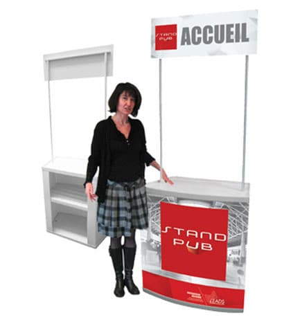 Comptoir d accueil pour stand comptoir promostand for Stand accueil
