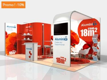 stand modulable aluminium 18m2