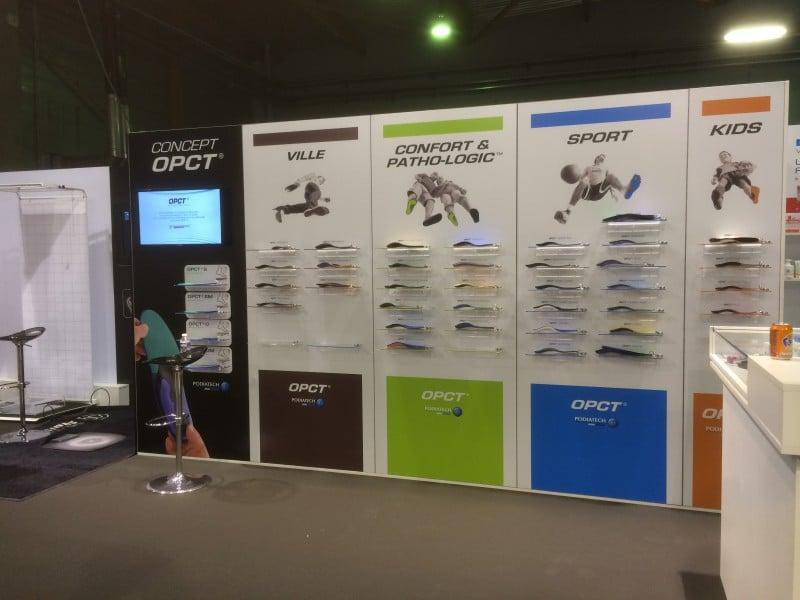 stand modulable aluminium menuisé podiatech FNP 2016